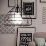 Nordlux Deckenleuchte, VINTAGE Pendel Hänge Lampe Schlaf Gäste Zimmer Decken Käfig Leuchte schwarz 84883003