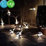 Nordlux LED Dekolicht, Lichter Kette LED Weihnachten Kugeln Dekoration Chrom Leuchte Lampe Licht Fenster 80110000