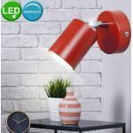 Nordlux Wandleuchte, LED Wand Leuchte Wohn Zimmer Beleuchtung Lese Strahler Lampe rot Spot verstellbar 72091002