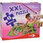 NORIS XXL Puzzle Ferien auf dem Ponyhof Puzzle, Mehrfarbig