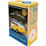 Nostalgic-Art Vorratsdose VW Bulli Lets get away, 1,3 Liter, Aromadose, mit Motiv, eckig, Metall