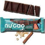 nucao. Vegane Bio Schokolade - Kokos Zimt - Dunkle Zartbitter Schoko-Riegel aus crunchy Hanf-Nüssen & cremigen Single Origin Kakao [Zuckerfreie Süßigkeiten - Laktosefreie Nuss-Schokoladen]12-Pack,480g