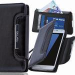 numia Motorola Moto X Hülle, Handyhülle Handy Schutzhülle [Book-Style Handytasche mit Standfunktion und Kartenfach] Pu Leder Tasche für Motorola Moto X XT1052 Case Cover [Schwarz]