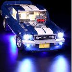 NURICH Licht Set für Lego 10265 1960er Ford Mustang, passen zum Lego 10265