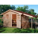 OBI Garten Holz-Gartenhaus/Gerätehaus Bozen A BxT: 326 cm x 205 cm davon 120 cm Schleppdach