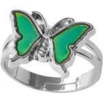 ODETOJOY 1 Stück Farbwechsel Stimmungsring für Frauen und Mädchen Einstellbare Größe Farbe Veränderung Stimmung Ring Boho Schmetterling Gefühlsring