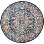 Ø 150 Orientalischer Teppich Elnath Rund Hellgrau/Dunkelgrau