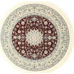 Ø 150 Runder Teppich Nain Emilia Orientalischer Medaillon Beige/Hellgrau