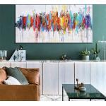 Ölgemälde handgemachte handgemalte Wandkunst bunt abstrakte moderne Heimtextilien Dekor gerollte Leinwand kein Rahmen ungedehnt Lightinthebox