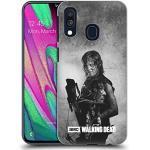 Offizielle AMC The Walking Dead Daryl Doppelte Aussetzung Harte Rueckseiten Handyhülle Hülle Huelle kompatibel mit Samsung Galaxy A40 (2019)