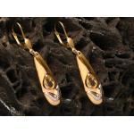 Ohrringe - elegant - Gold Ohrhänger Citrin & bicolor