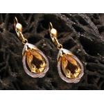Ohrringe - klassisch - Gold Ohrhänger Citrin