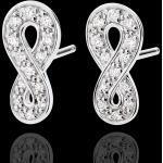 Ohrringe Unendlichkeit - Weißgold und Diamanten