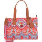 Oilily Schultertasche »City Rose Paisley«, orange, Hot Coral