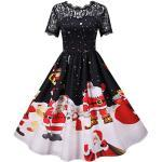 Weiße Vintage Weihnachtskleider zu Weihnachten für Damen