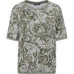 Olsen T-Shirt mit Aquarell-Print, grün, khaki
