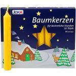 OLShop AG 2er Pack Baumkerzen Natur ca. 13 x 105 mm (2 x 20 Stück) Weihnachtskerzen, Christbaumkerzen, Pyramidenkerzen