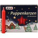 OLShop AG 2er Pack Puppenkerzen rot ca. 10 x 65 mm (2 x 20 Stück), Puppenlichter, Miniaturkerzen, Weihnachtskerzen, Kerzen