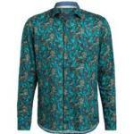 Olymp Leinenhemd Casual Modern Fit gruen