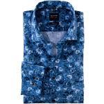 Reduzierte Marineblaue Langärmelige OLYMP Level Five Hemden extra langer Arm für Herren
