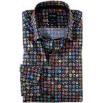 Marineblaue Langärmelige Elegante OLYMP Modern Fit Hemden extra langer Arm für Herren