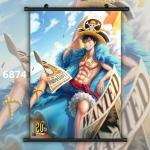 One Piece Monkey D Luffy Ace Anime Wallscroll Poster Kunstdrucke Bider Drucke