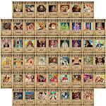One Piece Wanted Collage Kit für Wand Vintage Retro Anime Bilder für Jungen Zimmer Dekor, 50 Stück 10,2 x 15,2 cm
