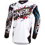 Weiße Atmungsaktive O'Neal Element V-Ausschnitt Sportshirts Übergrößen zum Radfahren