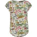 ONLY CARMAKOMA Klassische Bluse »CARVICA« mit Rundhalsaussschnitt, weiß, bunt-flowers