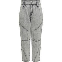 Graue ONLY Mom-Jeans & Karottenjeans für Damen