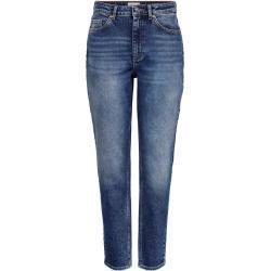 Blaue ONLY Mom-Jeans & Karottenjeans mit Reißverschluss für Damen