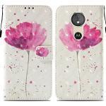 Ooboom® Motorola Moto E5/G6 Play Hülle 3D Flip PU Leder Schutzhülle Stand Handy Tasche Brieftasche Wallet Case Cover für Motorola Moto E5/G6 Play - Blume Lila