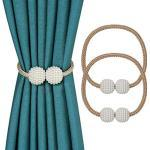 OOTSR Magnetic Curtain Tiebacks Raffhalter für Vorhänge Vorhanghalter für Gardinen und Vorhänge, Klassischen Europäischen Vorhang Magnetic Tieback für Heim und Büro-Dekoration(Gold)