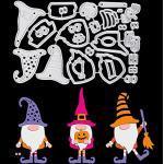 OOTSR Stanzschablonen Set Halloween Gnomes Stanzschablonen Scrapbooking, Metall Prägeschablonen Stanzmaschine Stanzformen Schneiden für DIY Album Scrapbooking Karten Deko