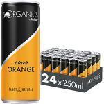 Organics by Red Bull Black Orange, 24 x 250 ml, Dosen Bio Getränke 24er Palette, OHNE PFAND