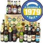 Original 1979 / Bier Geschenk Welt und DE/Geschenk zum Geburtstag/Adventskalender Bier