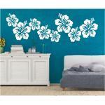 Ornament WANDTATTOO Hibiskus Blüten Blume Wandsticker Wandaufkleber Sticker 1