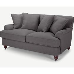 Orson 2-Sitzer Sofa mit Kissen, Graphitgrau