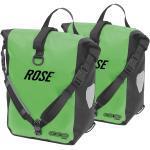 ORTLIEB-ROSE SPORT ROLLER Set bestehend aus zwei Gepäckträgertaschen apfelgrün/schwarz 2x12,5 l