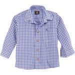 OS-Trachten Trachtenhemd Kinder kariert für Mädchen und Buben, blau, blau