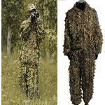 OUTERDO Tarnanzug, Blatt Ghillie Anzug Woodland, Camouflage Kleidung 3D Jungle Hunting, Tarnkleidung Eine Größe