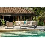 OUTFLEXX Ecklounge, natural brown, Polyrattan, 6 Personen, inkl. Polster in Sandfarbe