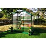 OUTFLEXX Gewächshaus, grün, Alu/Polycarbonat, 190x125x203 cm, pulverbeschichtet