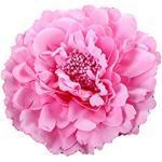 Outflower Kleiner Blumenstrauß, Deko-Blume für Strohhut, große Ansteckblume, Pfingstrose, Haarspange, Stoff, Rosa, 11 cm