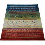 Paco Home Designer Teppich Gabbeh Loribaft Bordüre Nomaden Multicolor Rot Creme Grün Blau mehrfarbig 200X290 cm