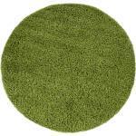 Paco Home Hochflor-Teppich »Sky 250«, rund, Höhe 35 mm, intensive Farbbrillanz, Wohnzimmer, grün, grün