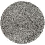Paco Home Hochflor-Teppich »Twister 500«, rund, Höhe 45 mm, Uni Hochflor Shaggy mit hoher Fadendichte, Wohnzimmer, grau, grau