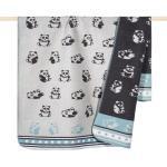 pad Babydecke Decke Panda Kinder 75x100 cm aqua grau blau