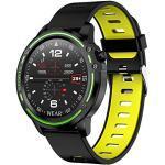Padgene IP68 wasserdichte Sport Fitness Uhr Voller Touchscreen Smartwatch Sportuhr Fitness Tracker Armbanduhr mit EKG Blutdruck Blutsauerstoff Pulsmesser für Damen Herren (184Gelb)
