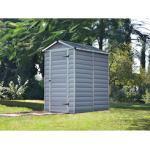 Palram Gerätehaus Skylight 4x6 silberfarben Geräteschuppen -schränke Garten Balkon